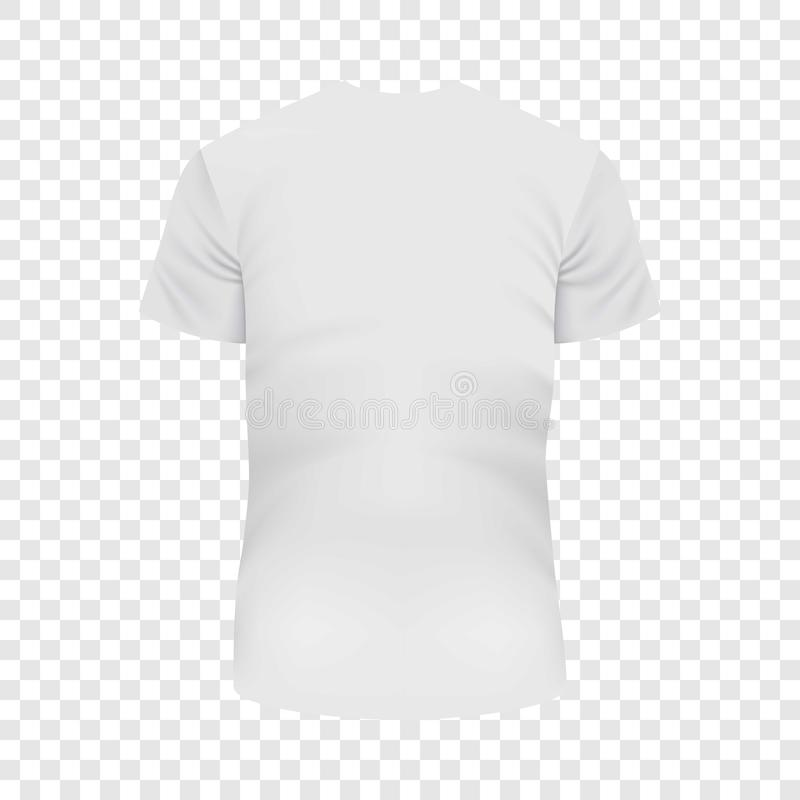 Zurück von weißem T-Shirt Modell, realistische Art vektor abbildung