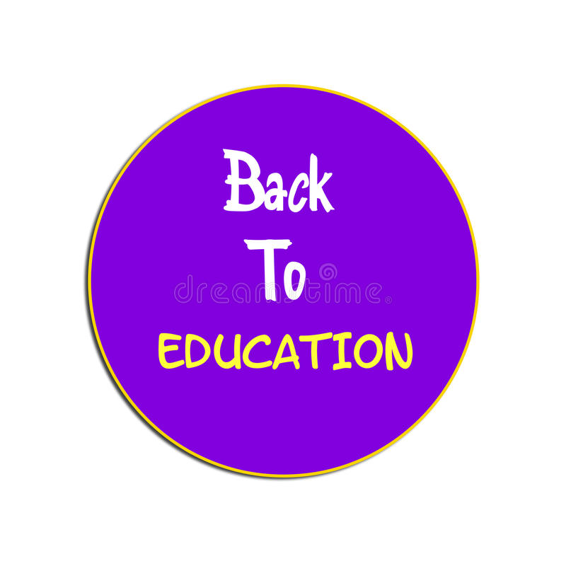 Zurück zu Bildung zurück zu Schulillustrationsaufkleber stockbilder