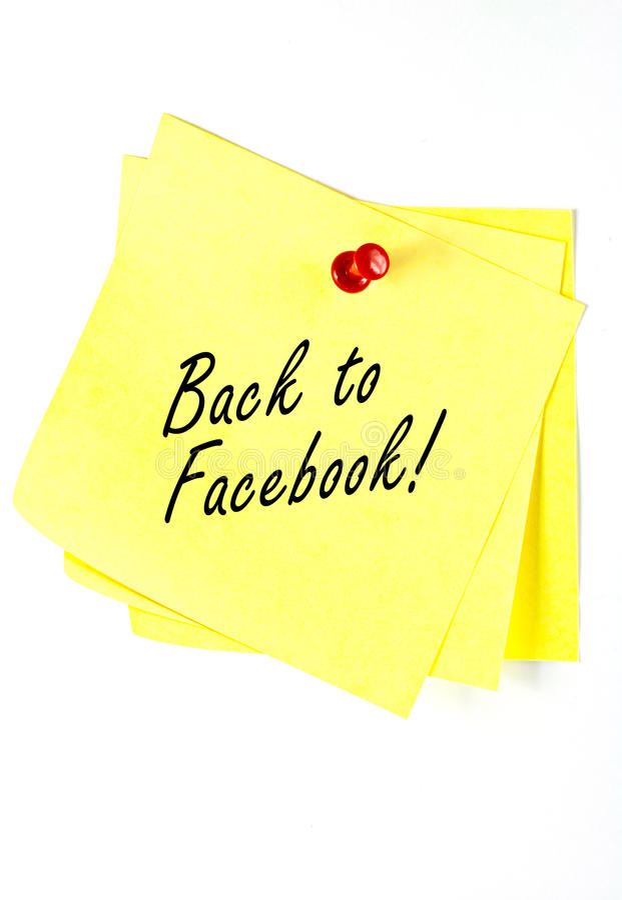 Zurück zu Facebook. lizenzfreie stockbilder