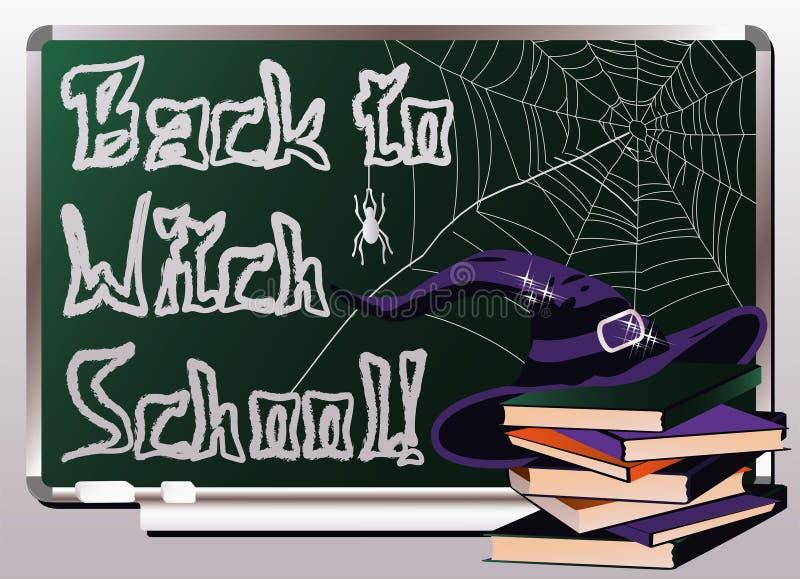 Zurück zu Hexen-Schule Einladungskarte _1 stock abbildung