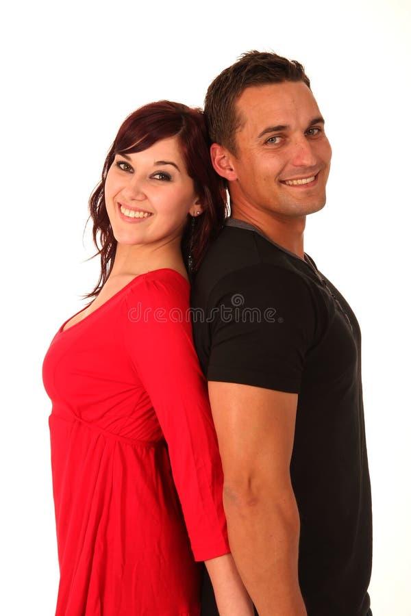 Zurück zu rückseitigen Liebes-Paaren lizenzfreies stockbild