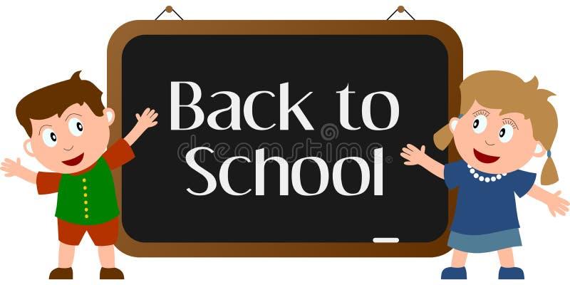 Zurück zu Schule [1] lizenzfreie abbildung
