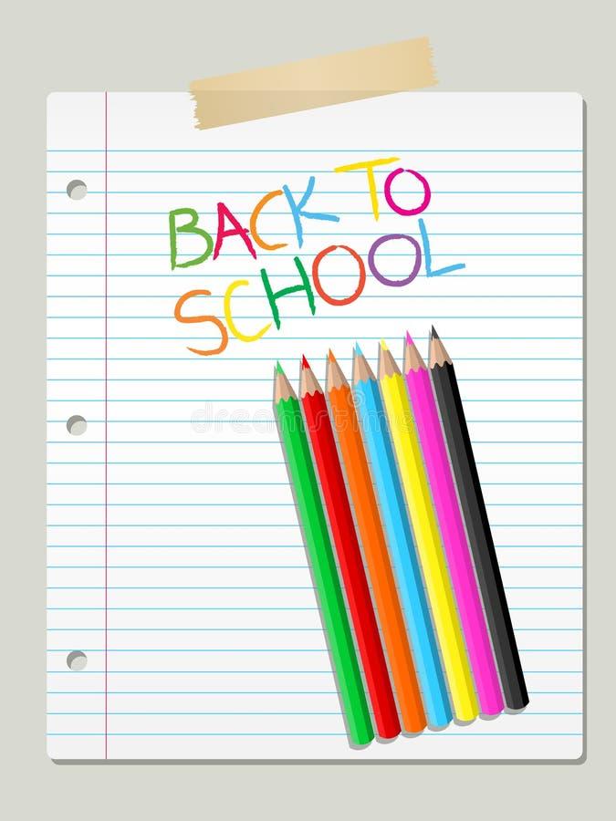 Zurück zu Schule lizenzfreie abbildung