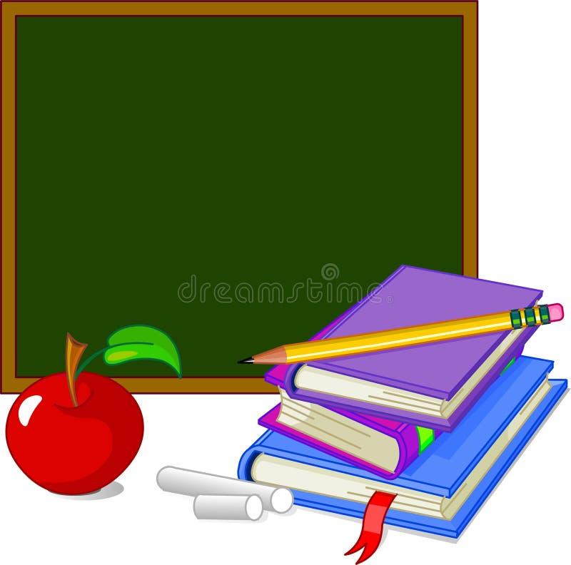 Zurück zu Schule-Auslegung-Elementen lizenzfreie abbildung