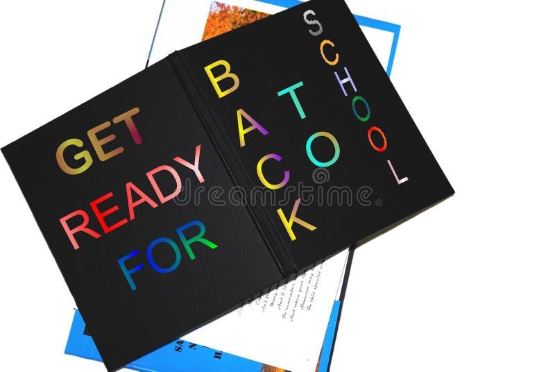 Zurück zu Schule-Buch stockfotografie