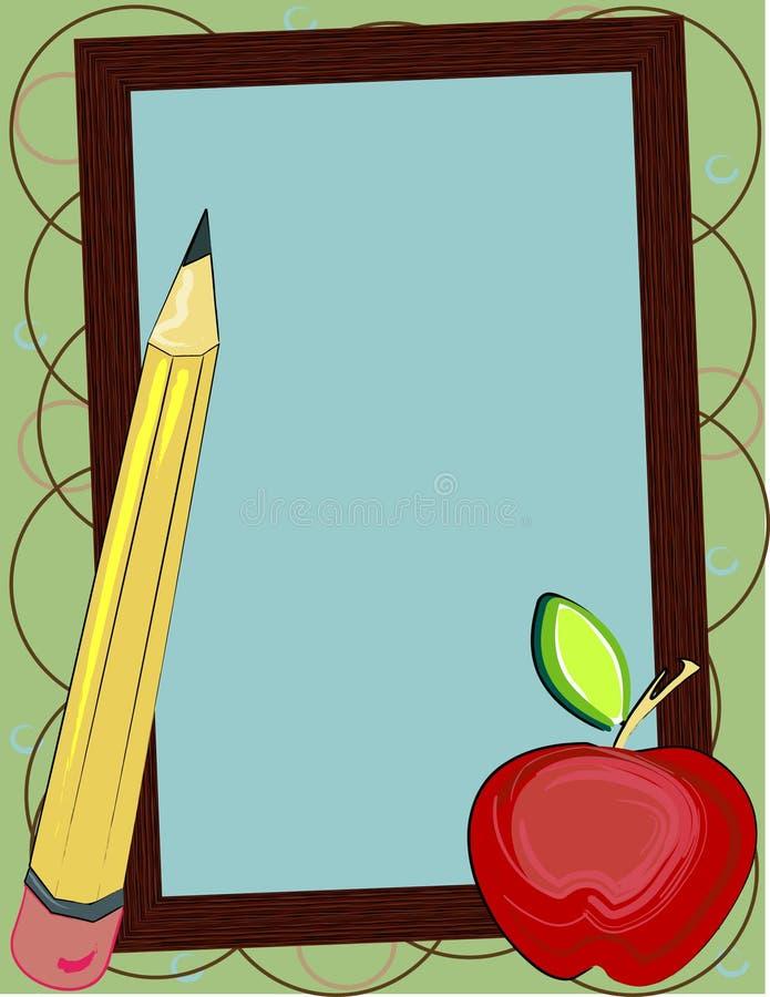 Zurück zu Schule-Hintergrund stock abbildung