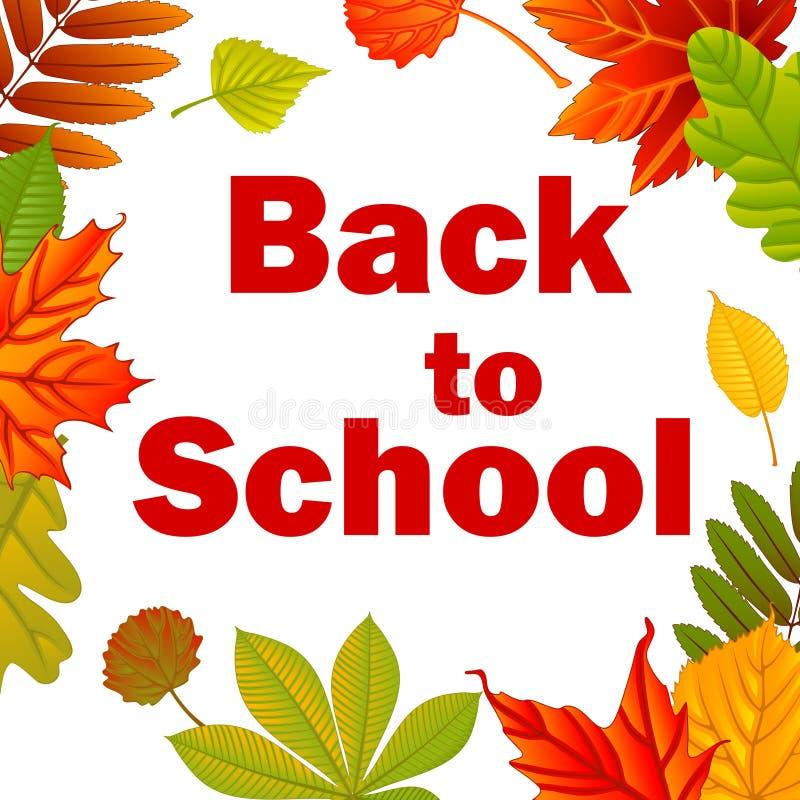 Zurück zu Schule Rot und Orange färbt Efeublattnahaufnahme stock abbildung
