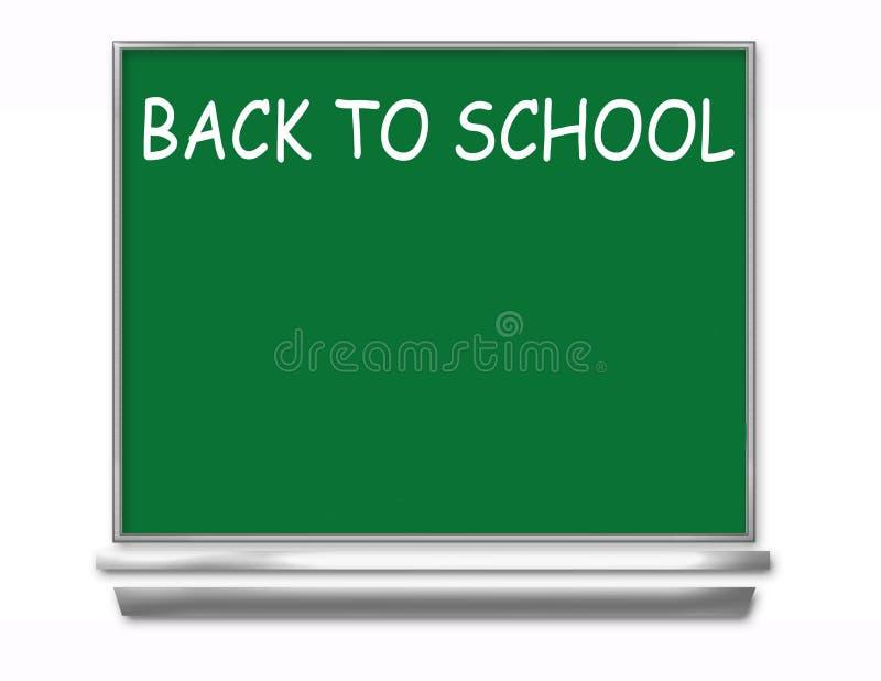 Zurück zu Schule-Tafel - Kinder vektor abbildung