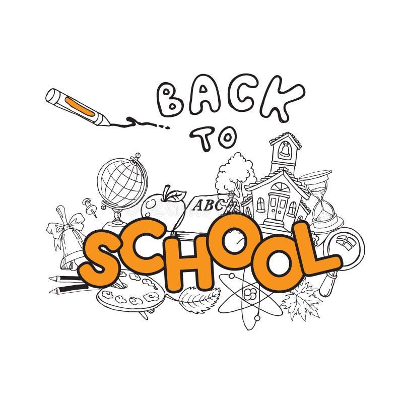 Zurück zu Schulegekritzeln lizenzfreie abbildung
