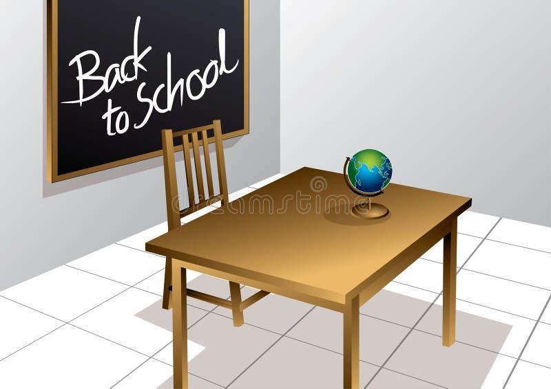 Zurück zu Schuleklassenzimmer vektor abbildung