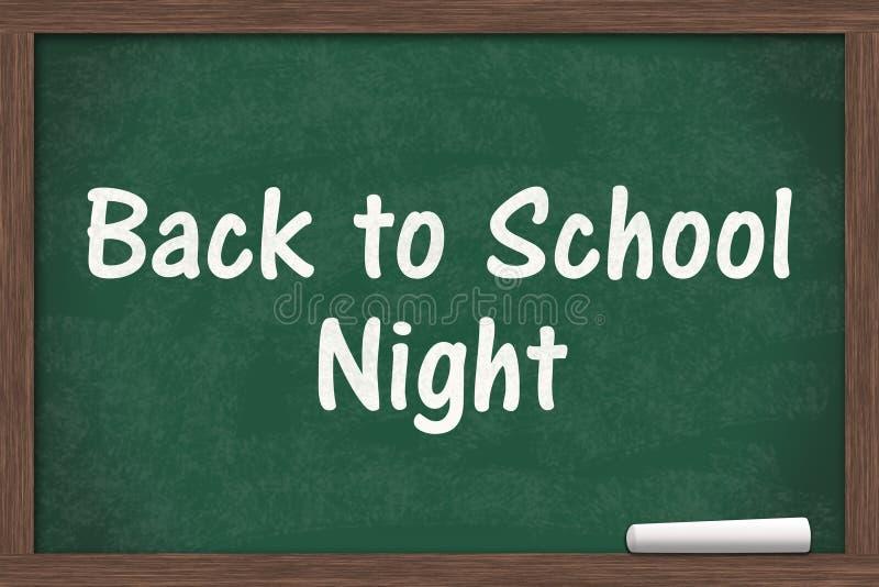 Zurück zu Schulnachtmitteilung stockfotografie