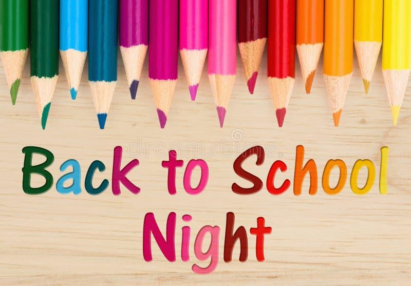 Zurück zu Schulnachtmitteilung stockfoto