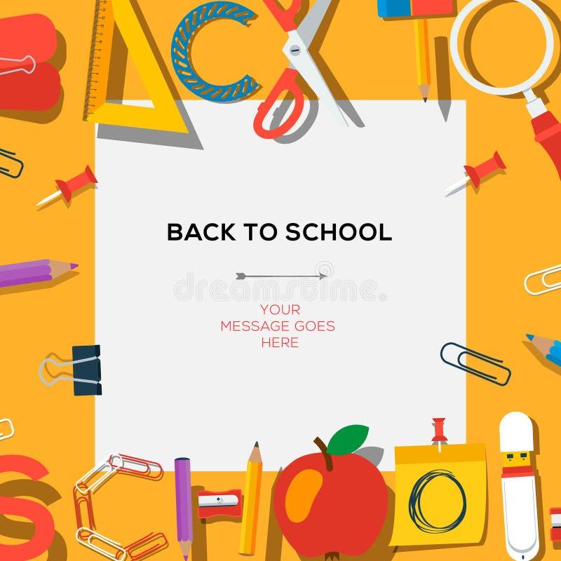 Zurück zu Schulschablone mit Versorgungen lizenzfreie abbildung