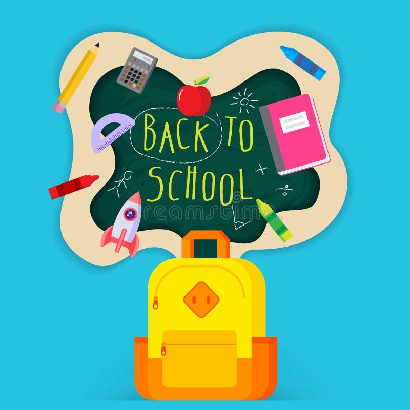 Schule Und Bildungs-flaches Design-Plakat Vektor Abbildung ...