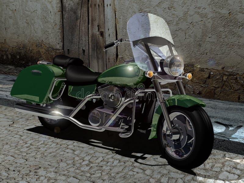 Zurückgestelltes Motorrad vektor abbildung