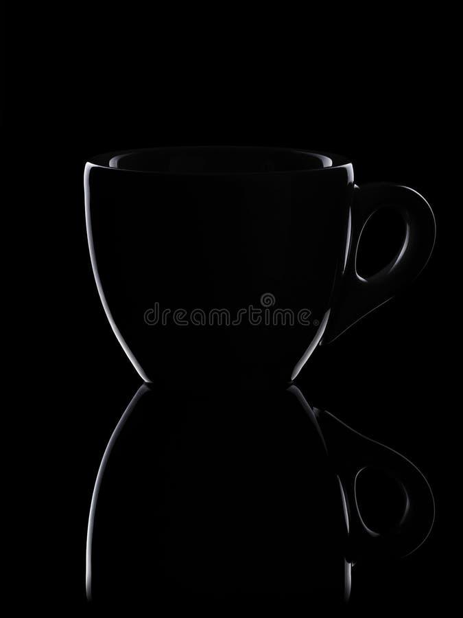 Zurückhaltendes Entwurfsfoto der Espressoschale lizenzfreie stockfotos