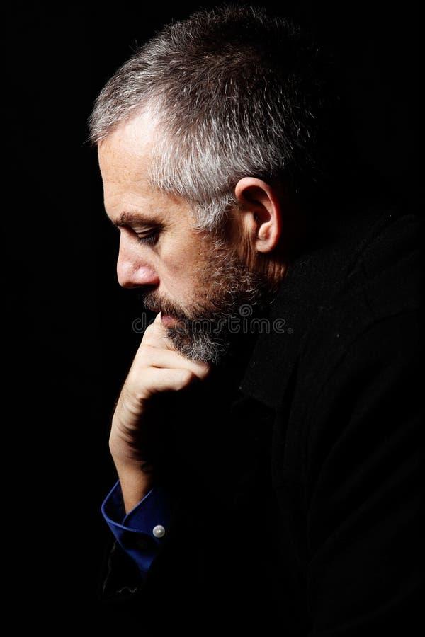 Deprimierter Geschäftsmann stockbild
