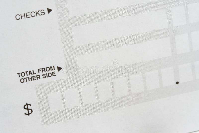 Zurückstellung für Abschreibungen stockfoto