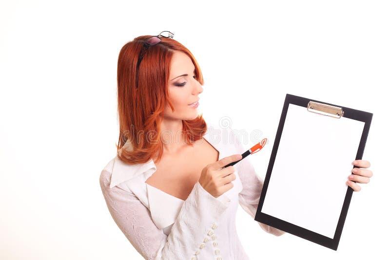 Download Zur Ansicht Der Lächelnden Geschäftsfrau Stockbild - Bild von korporation, leute: 27731977