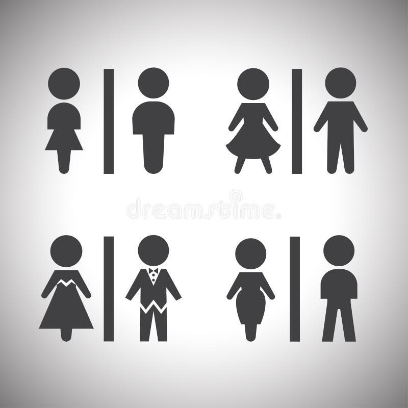 Zur Toilette gehen auf diese Weise stock abbildung