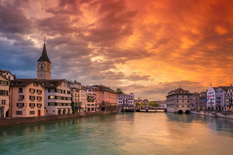 zurich photographie stock