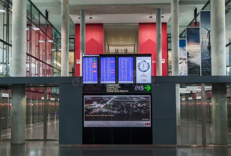 Zurich Airport Flight Display stock photo