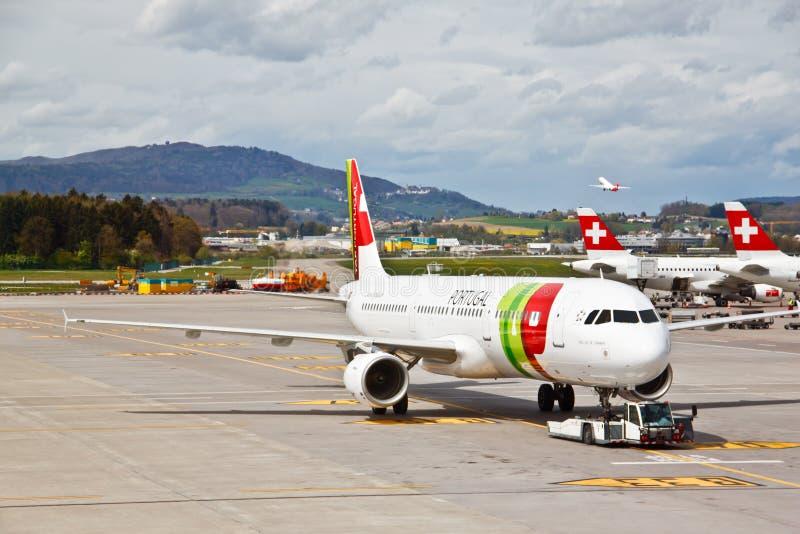 Zurich airport, Switzerland stock image