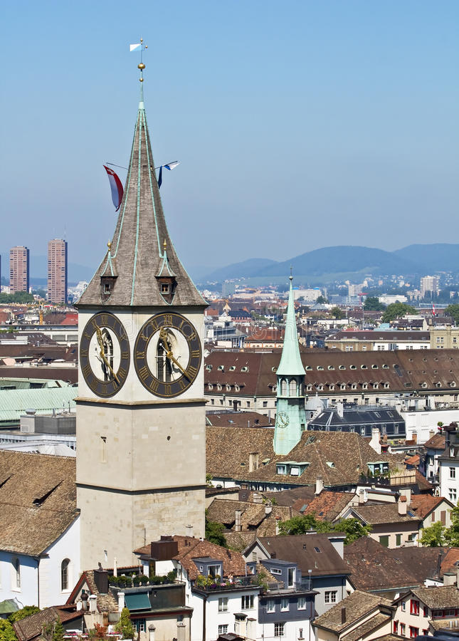 Zurich cityscape royalty free stock photography