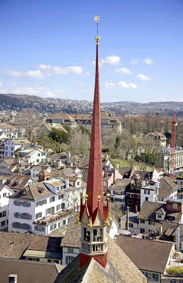 Zurich de au-dessus de 2 photos libres de droits