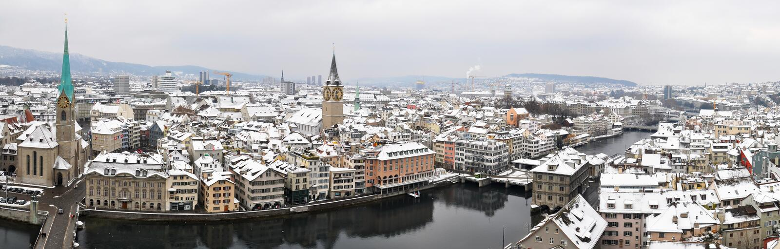 Download Zurich Downtown Stock Image - Image: 12473751