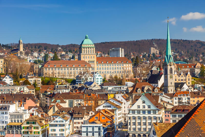 Download Zurich stock photo. Image of bright, view, church, zurich - 36052310