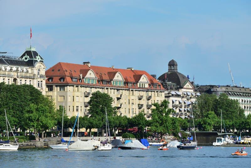 Zurich dziejowy centre, Szwajcaria fotografia royalty free