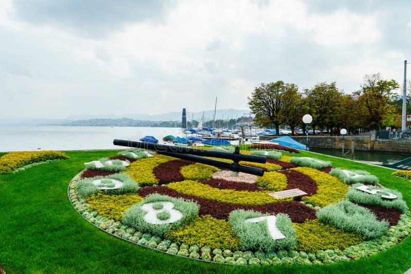 Zurich Flower Clock royalty free stock image