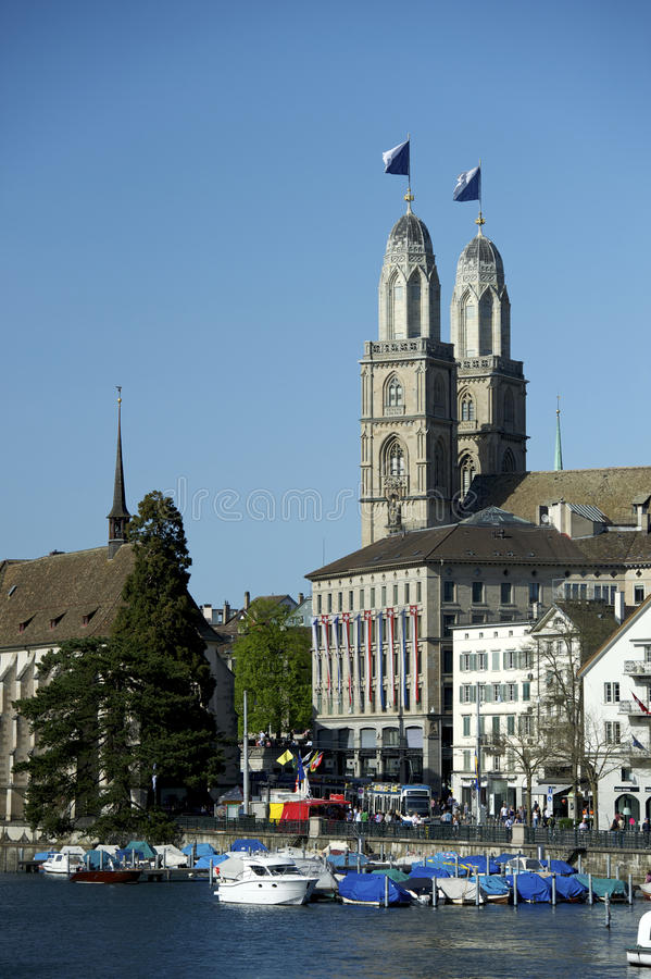 Zurich Grossmunster image libre de droits