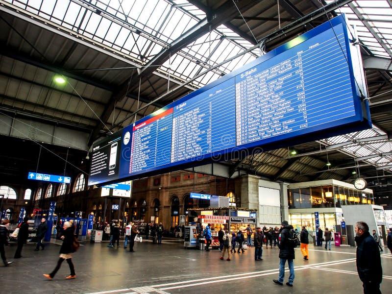 Calendar Zurich : Zurich hb train station editorial stock image of