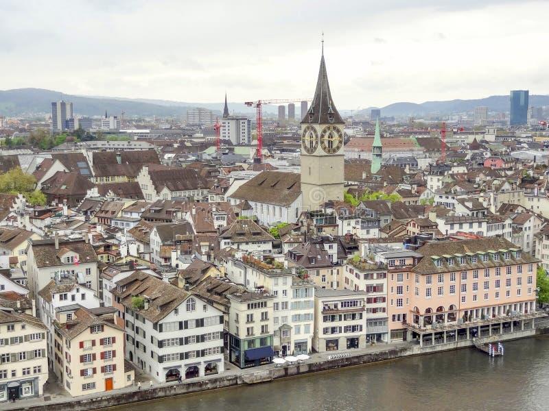 Zurich i Schweiz arkivfoton