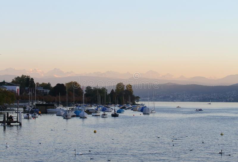 Zurich jezioro obrazy stock