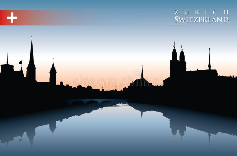 Zurich linia horyzontu royalty ilustracja