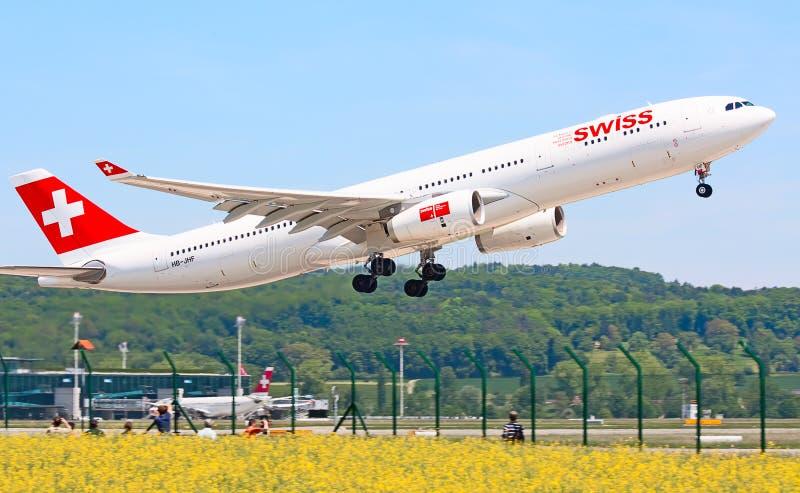 Zurich lotnisko zdjęcie stock