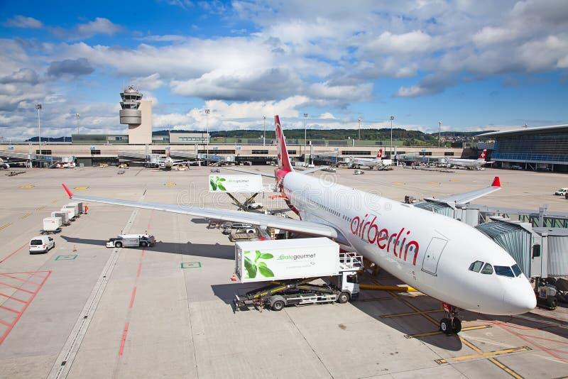 Zurich lotnisko zdjęcie royalty free
