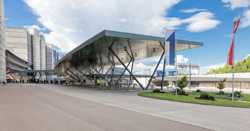 Zurich lotnisko fotografia royalty free