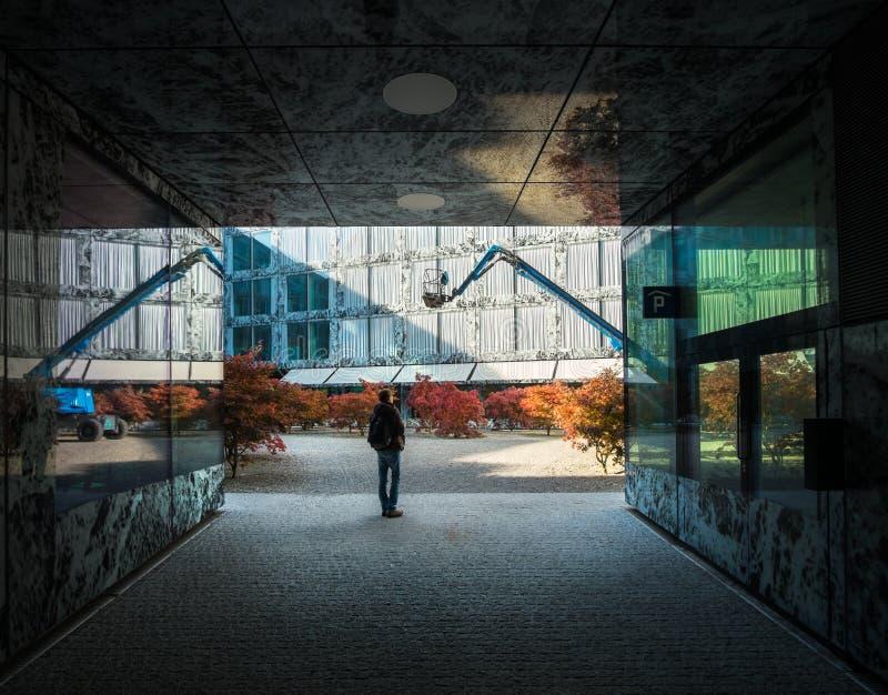 zurich Misterio de la arquitectura moderna fotos de archivo libres de regalías