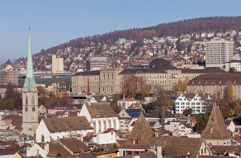 Zurich pejzaż miejski obrazy stock