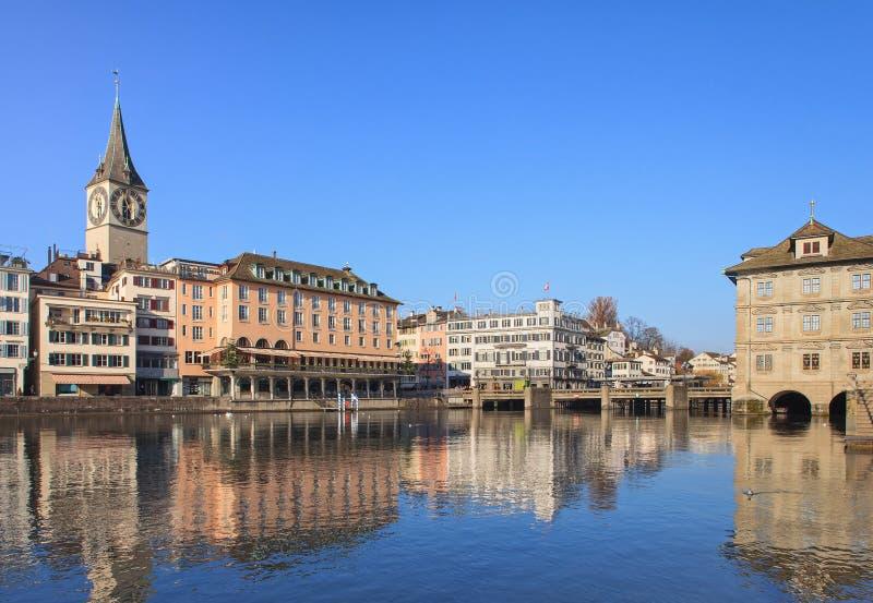 Zurich pejzaż miejski obraz royalty free