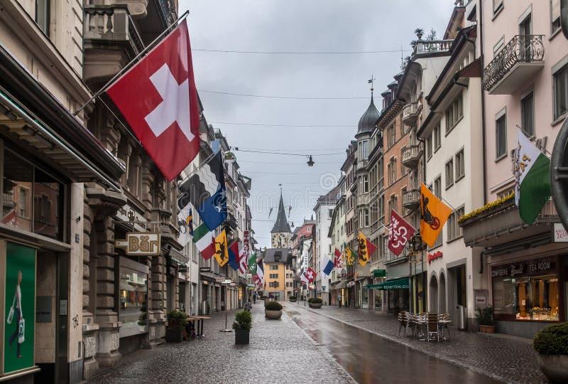 Zurich Schweiz fotografering för bildbyråer