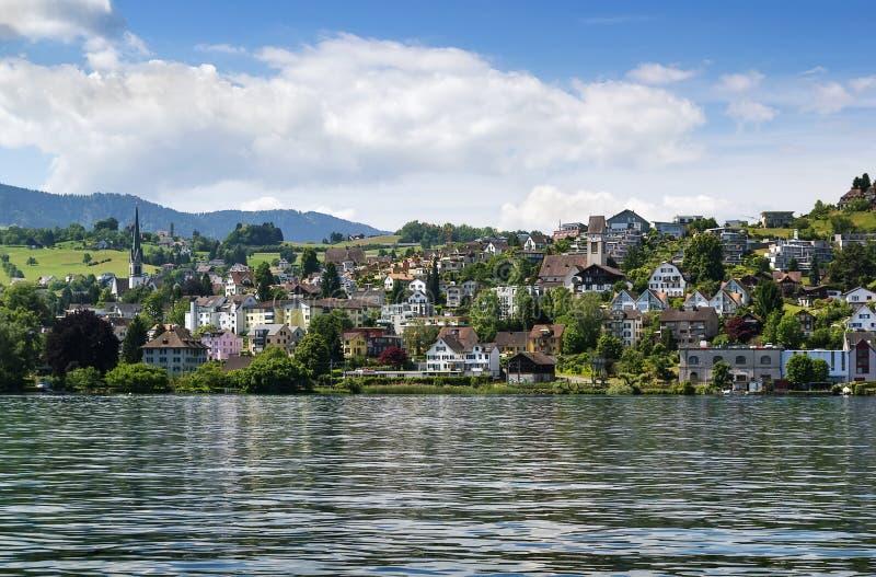 Zurich sjö, Schweiz royaltyfri fotografi