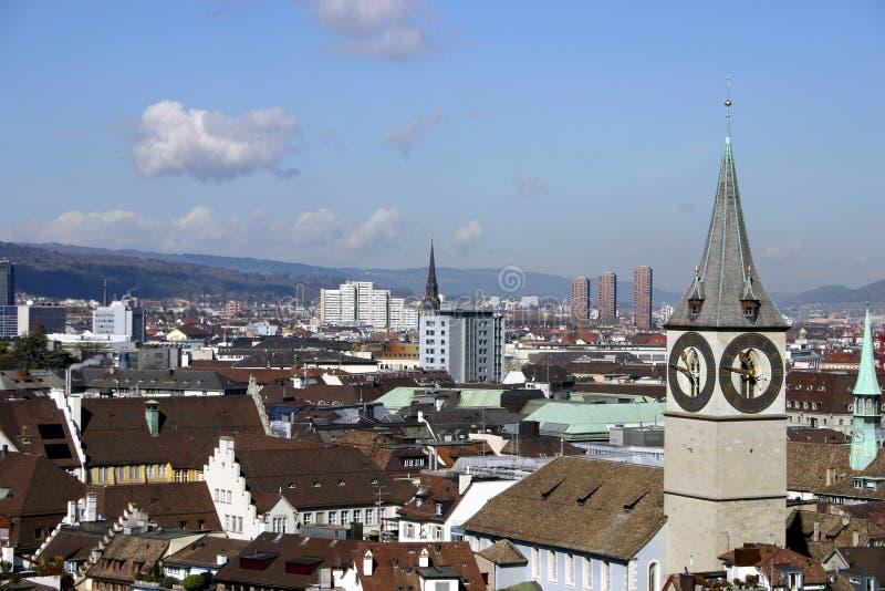 Zurich Skyline stock images