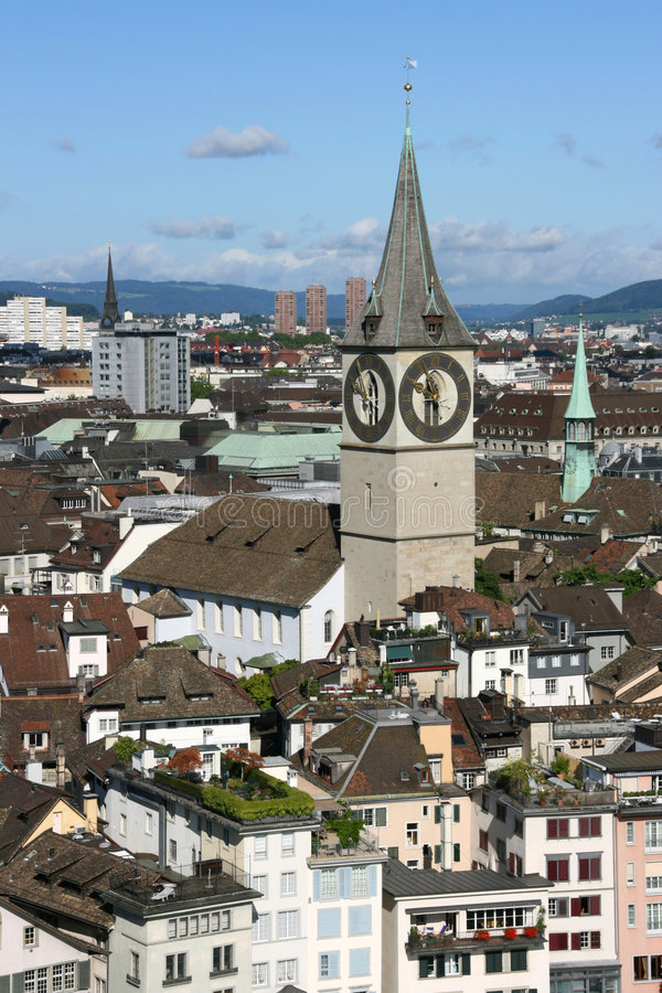 Zurich skyline royalty free stock photography