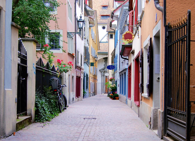 Download Zurich street stock photo. Image of traditional, europe - 12154540