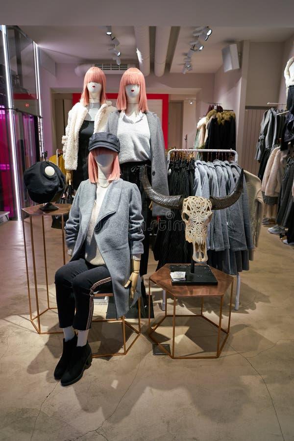 Tally Weijl. ZURICH, SWITZERLAND - CIRCA OCTOBER, 2018: interior shot of Tally Weijl store in Zurich royalty free stock photo